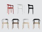 Drewniane krzesło Steelwood DECOINA - zdjęcie 5