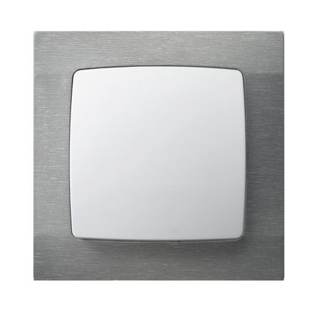 Łącznik jednobiegunowy ŁP-1S/00 ramka w kolorze tytanu strukturalnego seria Karo OSPEL