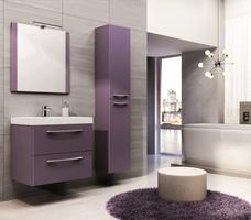 Fioletowe czy czerwone meble łazienkowe. Aranżacje łazienek