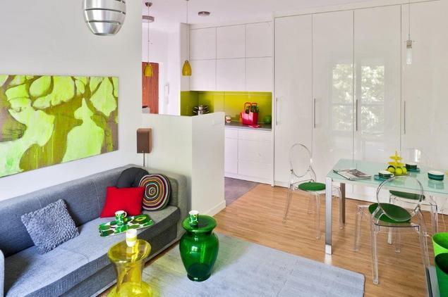 kolorowe wyposazenie kuchni aranzacje kuchni z salonem