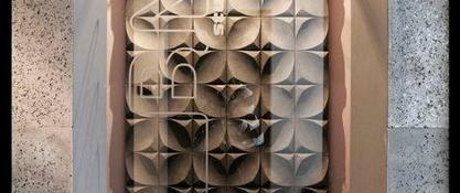 Ściana z betonu architektonicznego 3D