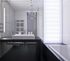 Aranżacja małej łazienki. Łazienka w stylu glamour
