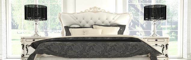 Sypialnia glamour. Stylowe wnętrze - retro