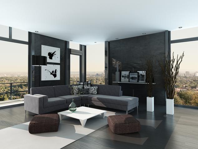 Minimalistyczny salon. Aranżacja nowoczesnego salonu