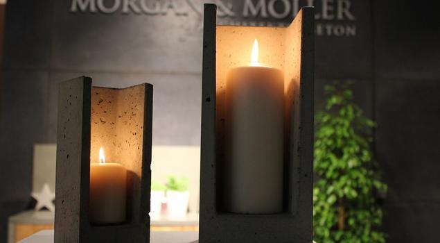 Oryginalny wystrój wnętrz, czyli beton w blasku świec