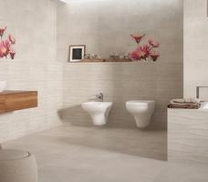 Kremowe płytki ceramiczne do nastrojowej łazienki