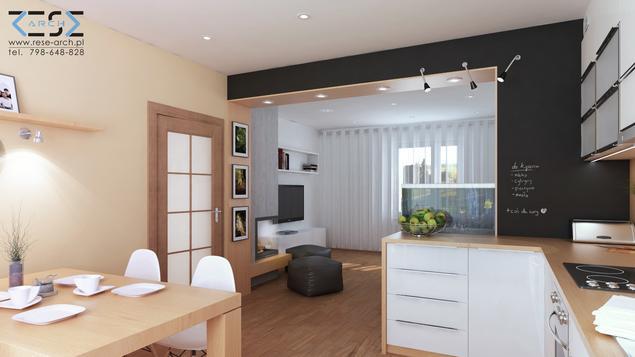 Zobacz galerię zdjęć Pomysł na kuchnię połączoną z salonem i jadalnią Nowocz   -> Nowoczesna Kuchnia Z Jadalnią I Salonem