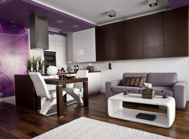Zobacz galerię zdjęć Aranżacja kuchni otwartej na salon   -> Salon Kuchni Cieszyn